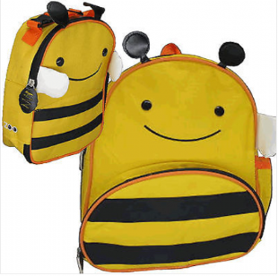Bee backpack with Bee lunch pack, water bottle and cool pack